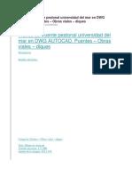 Planos de Puente Peatonal Universidad Del Mar en DWG AUTOCAD