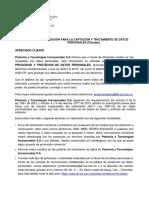 FO-AD-19_Aut Para La Captación y Trat de Datos Personales (Clientes)_V0....