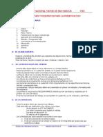 Instalaciones Electricas I-Condiciones y Requisitos Para Presentar Un Informe