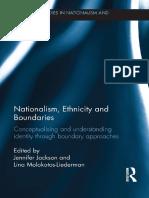 Jennifer Jackson, Lina Molokotos-Liederman - Nationalism, Ethnicity and Boundaries