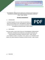 Informe Topografico San Miguel