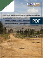 """Aspen Hysys Aplicado en El Diseã'o y Evaluaciã""""n de Lineas de Distribucion de Gas Natural y Condensado_broch."""