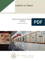 DT-31 Matrices de Transicion Del Credito en Nicaragua