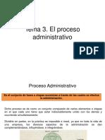 Tema 3. El Proceso Administrativo