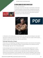 As Principais Filosofias Para Ganho de Massa Muscular