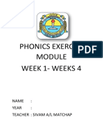 Phonics Exercise Module