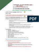 Cuestionario Estabilidad de Taludes Cg