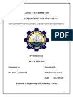 Lab Report of Fundamentals of Polymer Engineering Lab