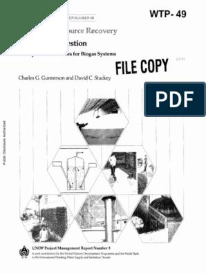Anaerobic Digestion pdf | Anaerobic Digestion | Biogas