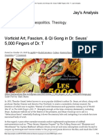 Vorticist Art, Fascism, & Qi Gong in Dr. Seuss' 5,000 Fingers of Dr