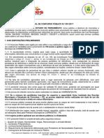 Edital de Concurso Público - Prefeitura de Correntes-pe