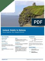 Dublin to Galway Ireland Trip