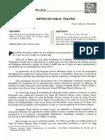Las Artes en Chile Teatro