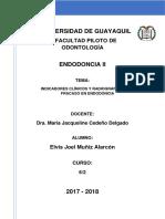Tarea#10 Indicadores Clínicos y Radiográficos Del Fracaso en Endodoncia