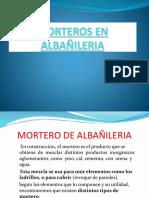 Morteros en Albañileria