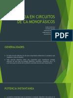 Potencia en Circuitos de CA Monofásicos