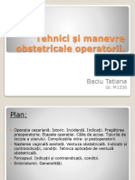 Tehnici Si Manevre Obstetricale Operatorii