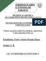 RAZONAMIENTO MORAL, DILEMAS Y DECISIONES ÉTICAS.
