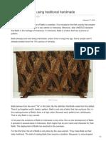 Original Batik Fabric Using Traditional Handmade