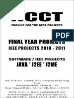 Ncct - Java J2EE J2ME Ieee 2010 2009 Projects