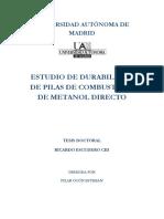 Tesis Estudio Durabilidad Membranas de Dmfc