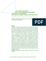 Análisis de La Practica Educativa a Través de Cuatro Dimensiones