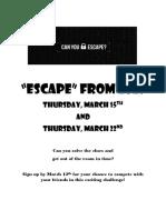 escape flyer