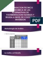 Comparacion Tecnico Economica de Las Alternativas de Pavimentacion