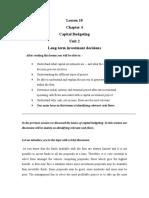 Capital Budgeting - 01