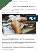AFP_ Para Una Pensión de S_ 850 Se Necesita Un Fondo de S_ 160 000
