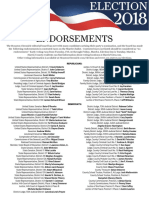 Print-and-take PDF of endorsements for 2018 primary election in Texas