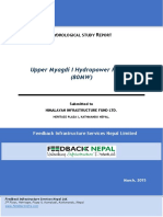Hydrological Study of Upper Myagdi