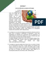 1- Construcción de Diferentes Conceptos de Ecología