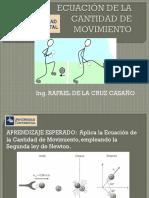 Ecuación de La Cantidad de Movimiento