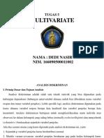 Dedi Nasir. Tugas 5 Multivariate