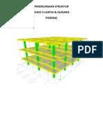 Desain struktur Ruko