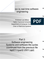 Introduce Realtime Software Engineering