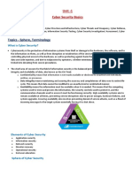 Unit 1 - Basics of Cyber Security