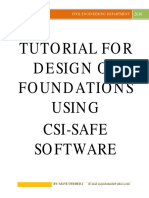 tutorial for design of foundations using safe
