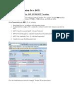 Variant Configuration for a BOM