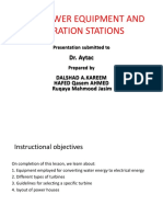 Hydropower Equipment and Generation Stati