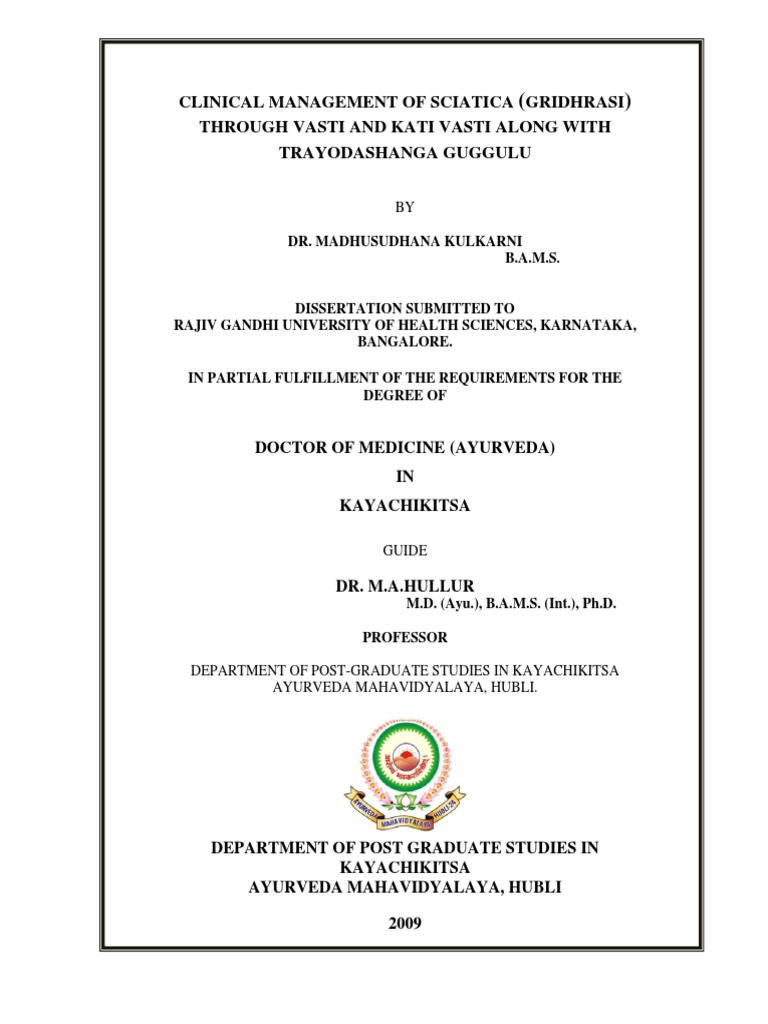 ayurveda thesis on asthi kshaya