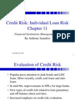 Evaluation of Credit Risk