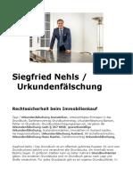 Siegfried Nehls. Urkundenfälschung