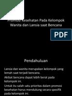 11. Promosi Kesehatan Pada Kelompok Wanita dan Lansia saat.pptx