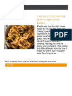 Chef Zola Nene's Mussel Prawn and Chicken Paella