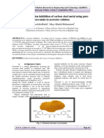 Study the corrosion inhibition of carbon steel metal using pure curcumin in seawater solution