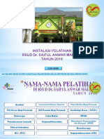 Program Instalasi Pelatihan 2018 Now