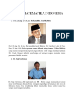 Tokoh Matematika Indonesia