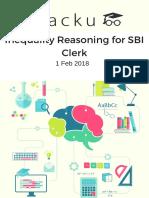 Inequality Reasoning for SBI Clerk